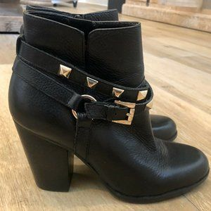 {Guess} Studded Black Leather Booties
